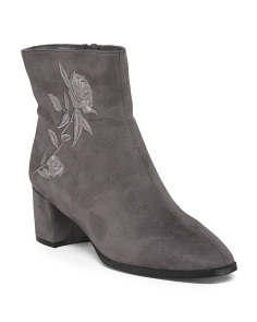 Tonal Mod Embroidered Booties