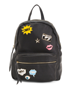 Perforated Backpack With Pins