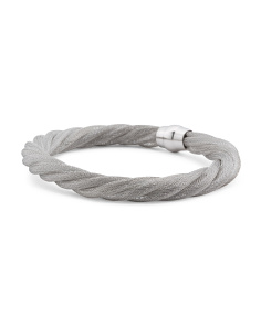 Made In Italy Sterling Silver Textured Twist Bracelet