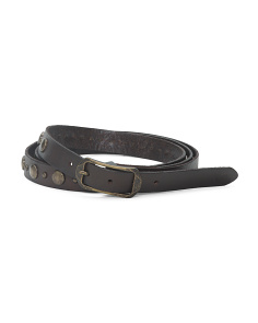 Women's Double Wrap Leather Belt