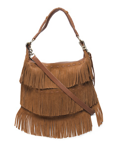 Penelope Suede Shoulder Bag