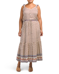 Plus Juniors Ruffled Maxi Dress