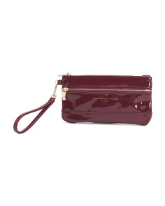 Zip Pouch With Wristlet Strap