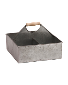 4 Slot Metal Storage Caddy