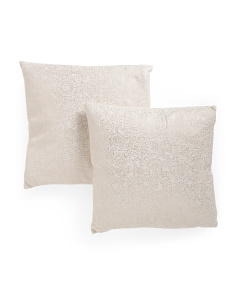 20x20 2pk Metallic Pillows