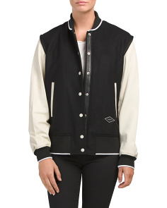 Edith Wool Blend Varsity Jacket