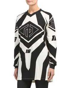 Optical Moto Print Sweatshirt