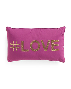 12x20 Hashtag Love Pillow