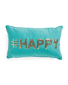 12x20 Hashtag Happy Pillow
