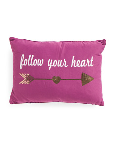 14x20 Follow Your Heart Pillow