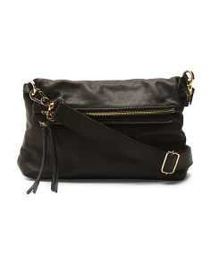 Leather Mickey Double Flap Crossbody