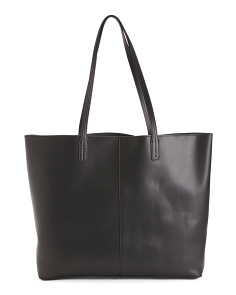 Made In Spain Leather Smooth Tote