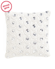 Made In India 12x12 Faux Silk Pillow