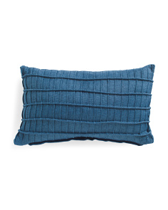 12x20 Faux Linen Pleated Pillow