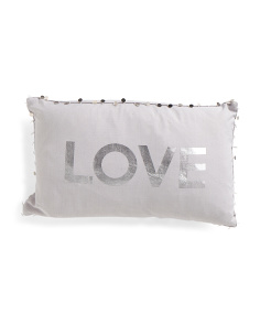 12x20 Love Foil Pillow