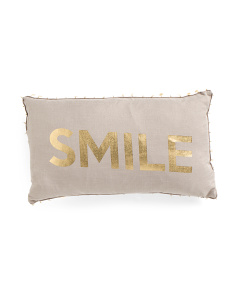 12x20 Smile Foil Pillow