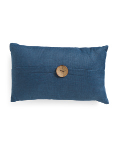 12x20 Textured Weave Button Pillow