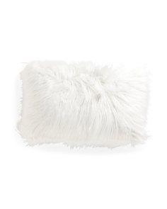 14x22 Faux Mongolian Fur Pillow