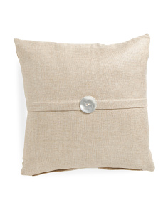 18x18 Metallic Faux Linen Pillow