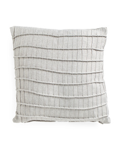 20x20 Faux Linen Pleated Pillow