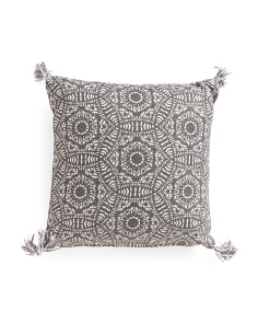 Made In India 20x20 Reversible Medallion Pillow