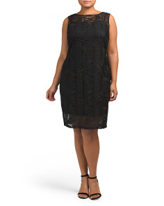 Plus Lace Sheath Dress