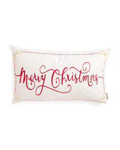 14x24 Merry Christmas Pillow