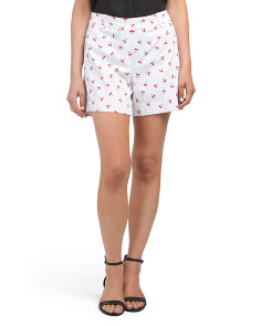 Pull On Cherry Print Shorts