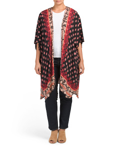 Plus Juniors Printed Long Kimono