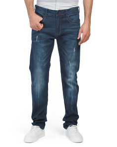Lightly Destructed Slim Fit Jeans