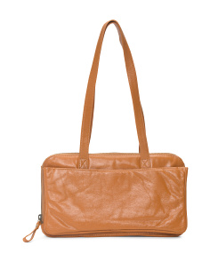 Long Handle Leather Satchel