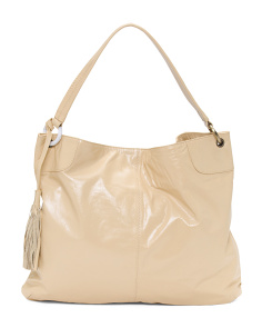 Leather Hobo With Tassel