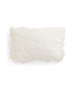 14x24 Faux Mongolian Fur Pillow