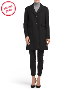 Made In Italy Long Wool Blend Coat