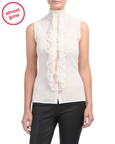Made In Italy Victorian Lace Top