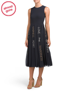 Made In Italy Embroidered Word Dress