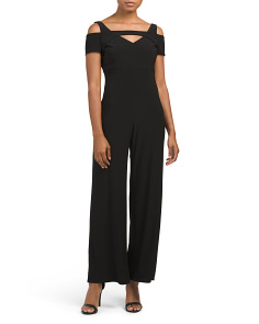 Petite Made In USA Cold Shoulder Jumpsuit