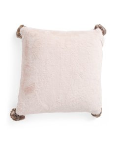 20x20 Soft Faux Fur Pillow