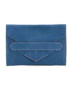 Made In Italy Large Leather Envelope Clutch