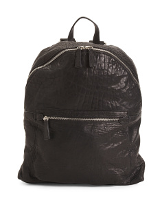 Made In Italy Crinkle Leather Backpack