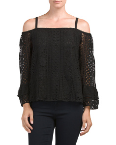 Off The Shoulder Blouse In Lace