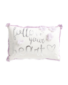 Kids 12x18 Follow Your Heart Pillow
