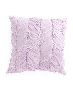 Kids 18x18 Ruched Faux Linen Pillow