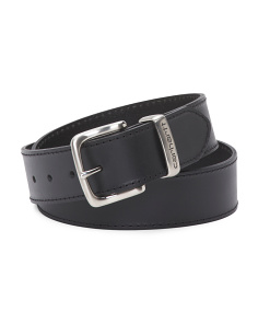 Men's Metal Loop Leather Belt