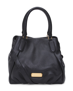 New Q Fran Leather Satchel