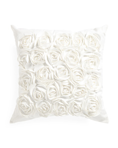 20x20 Textured Rosette Pillow