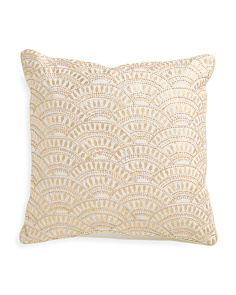 Made In India 18x18 Metallic Pillow