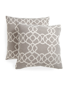 20x20 2pk Lattice Pattern Pillows