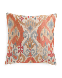20x20 Rust Ikat Pillow