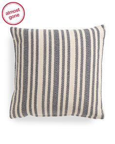 Made In India 22x22 Striped Pillow